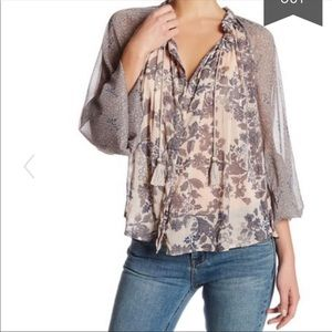Free People Hendrix Pheasant floral top